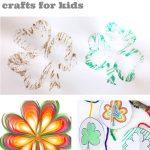 """Images of Shamrock crafts. Text reads """"Shamrocks Crafts for kids"""""""
