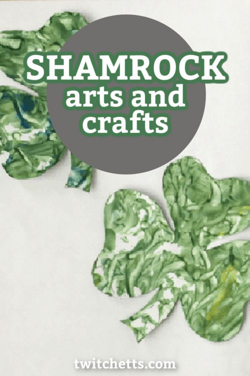 "Images of Shamrock crafts. Text reads ""Shamrock Arts and Crafts"""