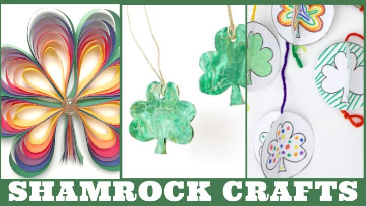 Images of Shamrock crafts. Text reads