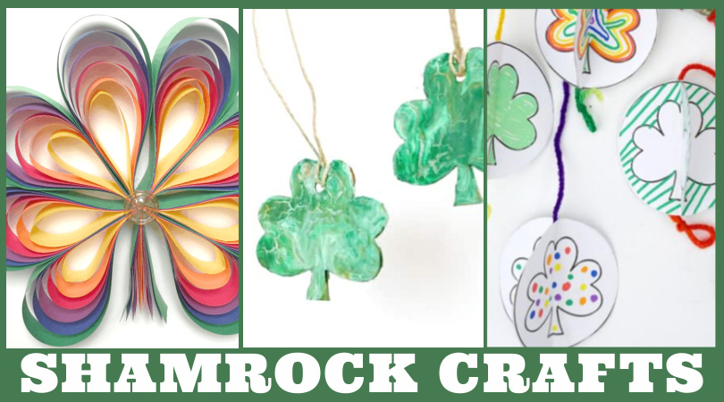 "Images of Shamrock crafts. Text reads ""Shamrock Crafts"""