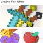 "Images of cardboard crafts. Text reads ""Cardboard crafts for kids"""