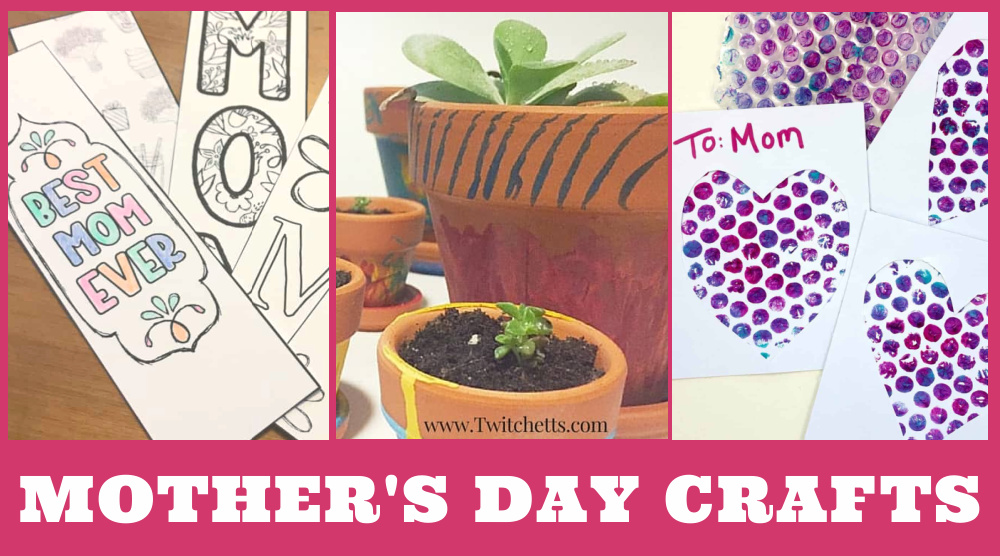 "Images of Mother's day crafts. Text reads ""Mother's Day Crafts"""