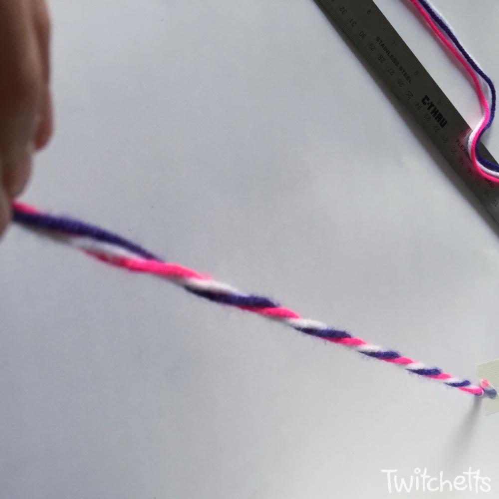 How to make twisted friendship bracelets-step 2