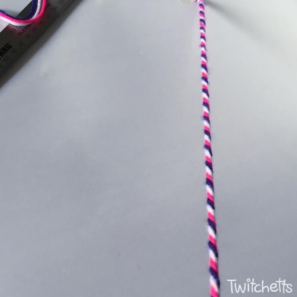 How to make twisted friendship bracelets-step 3