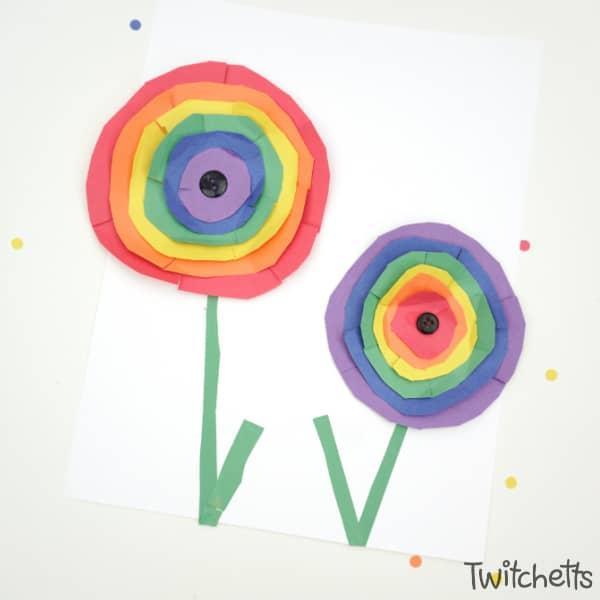 How to make beautiful Kandinsky Inspired Rainbow Flowers