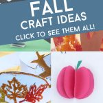 """Images of fall kids crafts. Text reads """"Fall Craft Ideas"""""""
