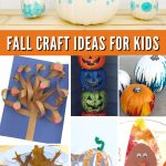 """Images of fall kids crafts. Text reads """"Fall Craft Ideas For Kids"""""""
