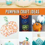 """Images of pumpkin crafts. Text reads """"Pumpkin Craft Ideas"""""""