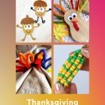 """Thanksgiving crafts made with pipe cleaners. Text Reads """"Pipe Cleaners - Thanksgiving Craft Projects"""""""