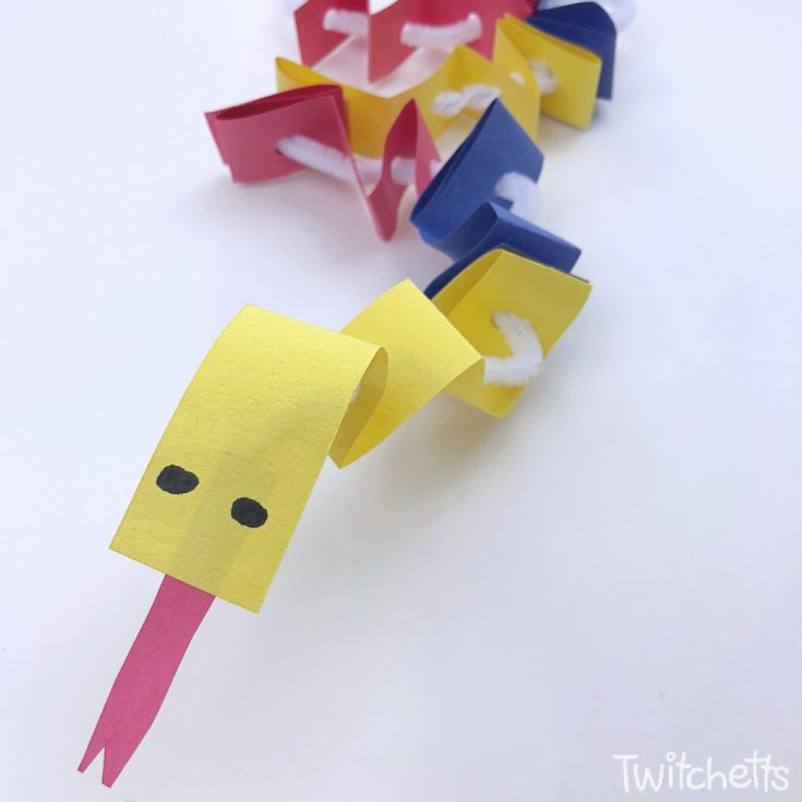 Primary Colored Paper Snake