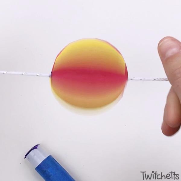 Paper spinner - spinning