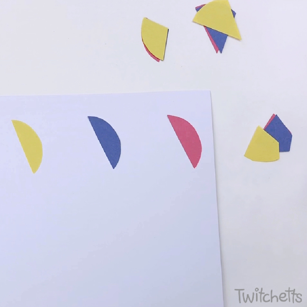 circle craft for preschoolers-in process